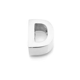 Zilveren Ketting  Letter D