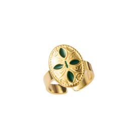 Gouden Ring Etnic Green