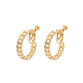 Gouden Clip Oorbellen Schakels
