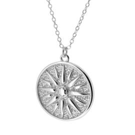 Zilveren ketting met hanger vintage coin