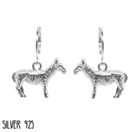 Earrings Zebra Zilver