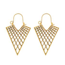 Boho Oorbellen Triangle Goud