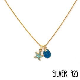 Ketting Beach Party Blauw