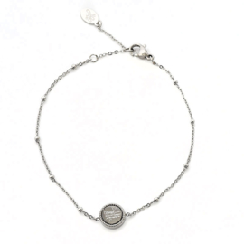 Armband Zilver Quote