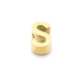 Gouden Ketting Letter S