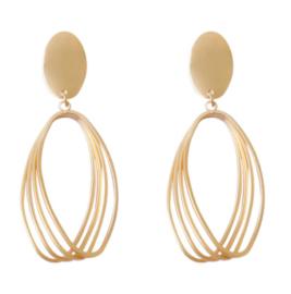 Gouden Clip oorbellen Ovaal