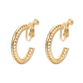 Gouden Clip Oorbellen Retro Ring