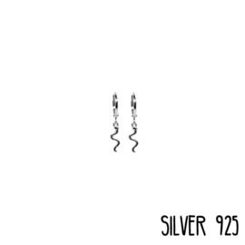 Earrings Snake Zilver