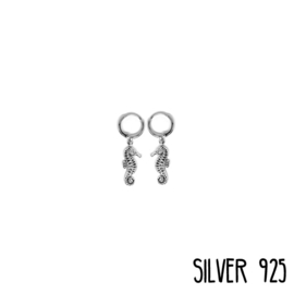 Earrings Zeepaard Zilver