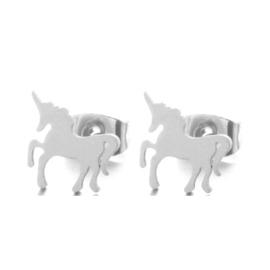 Oorknopjes Unicorn Zilver
