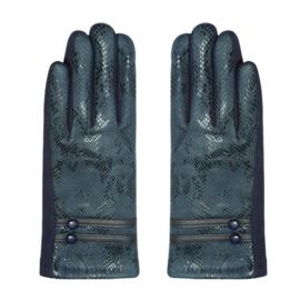 Handschoenen Slangenprint Blauw