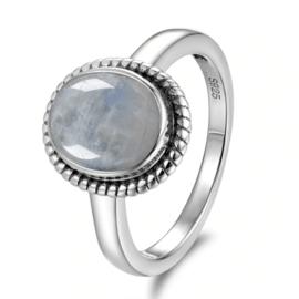 Ring Gemstone Wit Zilver 925