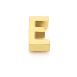 Gouden Ketting Letter E
