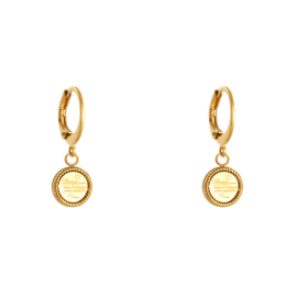 Earrings Written Coin Gold