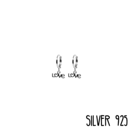 Earrings Love Zilver