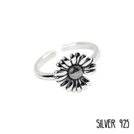 Ring Bloem Zilver 925