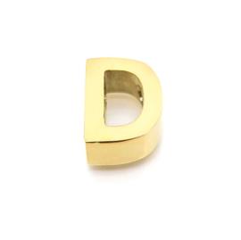 Gouden Ketting Letter D