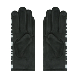 Handschoenen Zebraprint Grijs