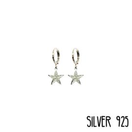 Earrings Glitter Star Zilver