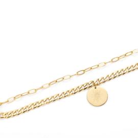 Gouden Schakel Armband Spark