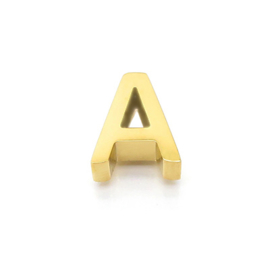 Gouden Ketting Letter A