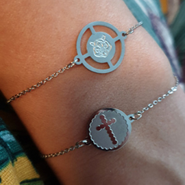 Armband Kruis Zilver