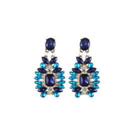 Statement Earrings Blauw Chic