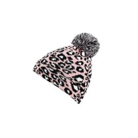 Beanie Luipaardprint Roze