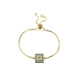 Regenboog Armband Square Goud