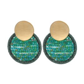 Oorbellen Cirkle Beads Groen