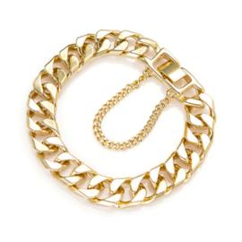 Gouden Schakel Armband Grof