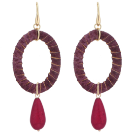 Statement Oorbellen Fancy Drop Rood