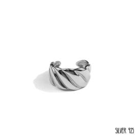 Zilveren Ring Gedraaid Groot