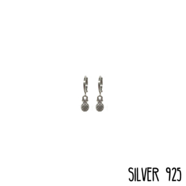 Earrings Ananas Klein Zilver