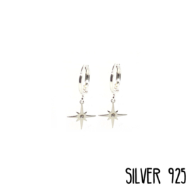 Earrings Northern Star Zilver
