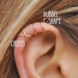 Ear cuff Goud Cross