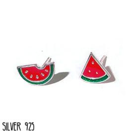 Oorknopjes Zilver Meloen