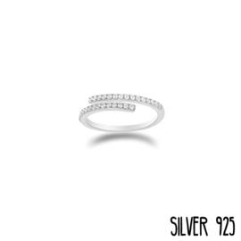 Zilveren Ring Steentjes