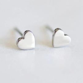 Oorknopjes Mini Hart Zilver