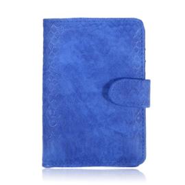 Paspoort Hoes Croco Blauw