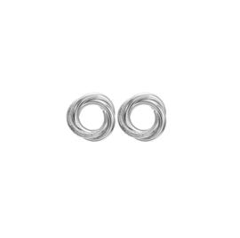 Zilveren Clip oorbellen Circle