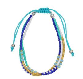 Bohemian Armband Blauw / Goud