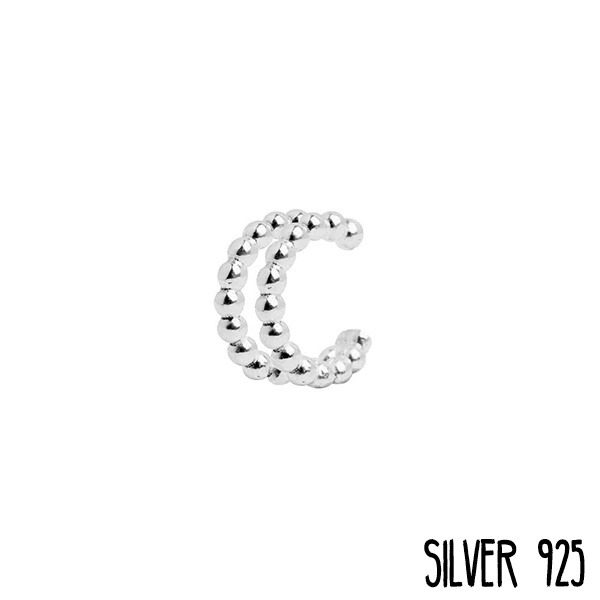 Ear cuff Zilver Dots
