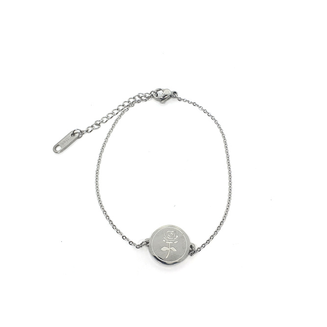 Armband Roos Rond Zilver