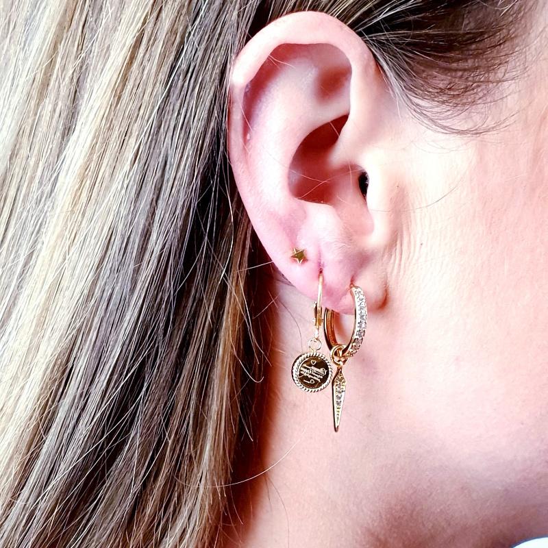 Earrings Written Coin Gold