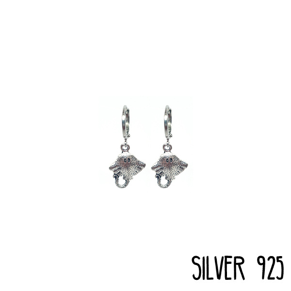 Earrings Rog Zilver