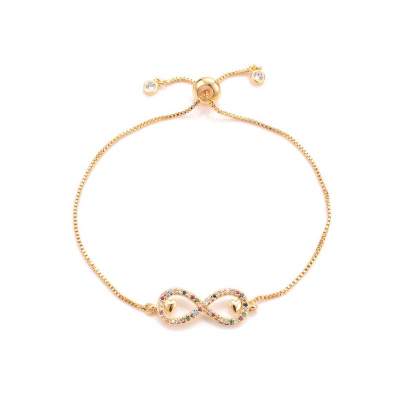 Regenboog Armband Infinity Goud
