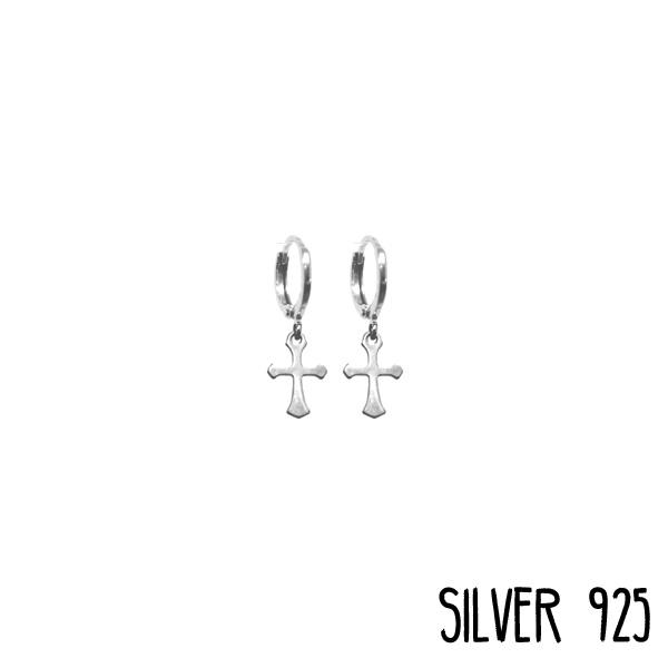 Earrings Little Cross Zilver