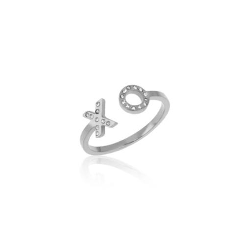 Zilveren Ring XO