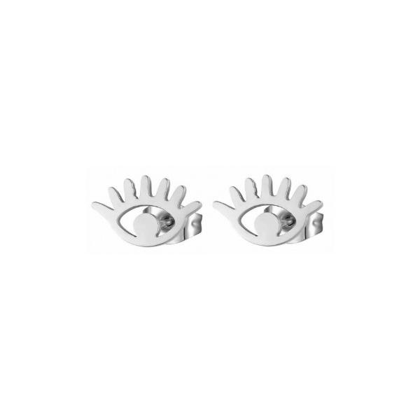 Oorknopjes Eye Zilver